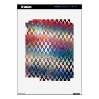Galaxy Geometric Pattern Space Nebula Skin For iPad 3