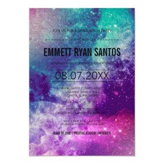 Galaxy Graduation Party Invite