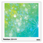 Galaxy Green Blue Bokeh Wall Decal