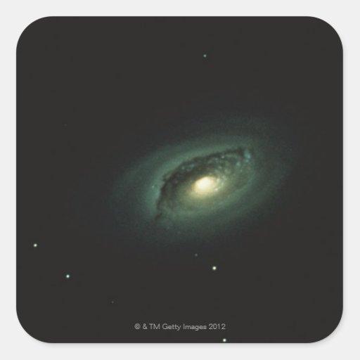 Galaxy in Coma Berenices Square Sticker