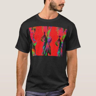 Galaxy In Red T-Shirt