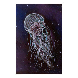 Galaxy Jellyfish Stationery