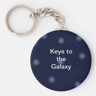 Galaxy Keys Basic Round Button Keychain