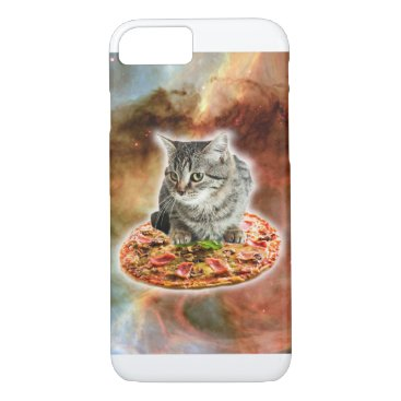 Galaxy Kitty Cat Riding Pizza In Space iPhone 8/7 Case