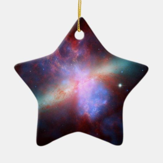 Galaxy M82 Hubble NASA Ceramic Ornament