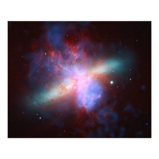 Galaxy M82 Hubble NASA Photo Art