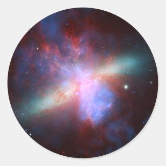 Galaxy M82 Hubble NASA Round Stickers