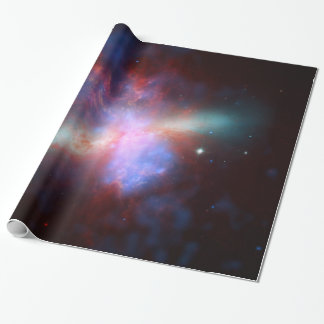 Galaxy M82 Hubble NASA Wrapping Paper