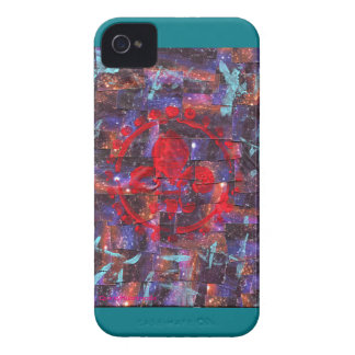 Galaxy Mixed Media Print iPhone 4 Cover