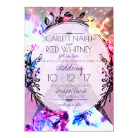 Galaxy Modern Space Hip Wedding Invitation
