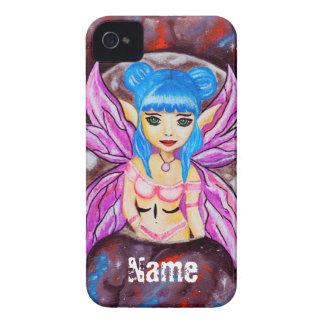Galaxy moon Fantasy blue hair faerie iPhone 4 Cover