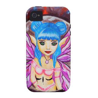 Galaxy moon Fantasy blue hair faerie iPhone 4 Covers