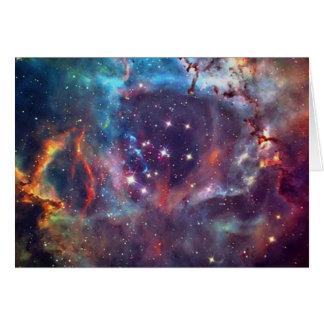 Galaxy Nebula space image. Greeting Card