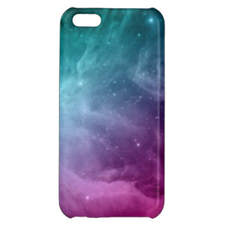 Galaxy Nebula Stars Teal Pink Clouds iPhone 5C Covers