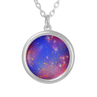 Galaxy Round Pendant Necklace