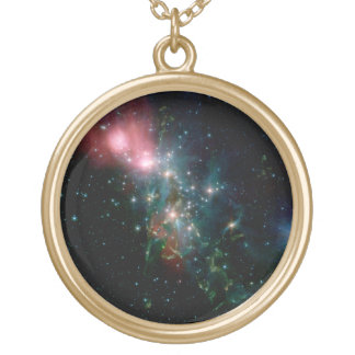Galaxy NGC 1333 Gold Plated Necklace