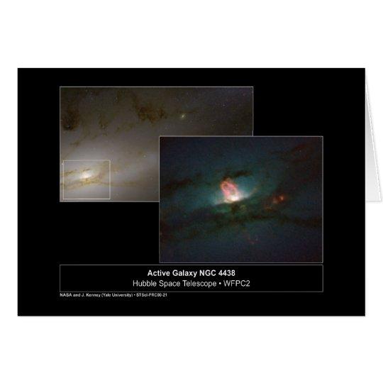 Galaxy NGC 4438 Hubble Telescope Photo Card