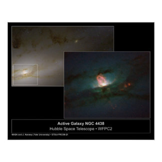 Galaxy NGC 4438 Hubble Telescope Photo Poster