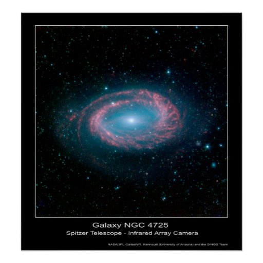 Galaxy NGC 4725 – Spitzer Space Telescope Posters