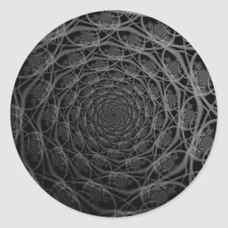 Galaxy of Filaments in Black and White Sticker