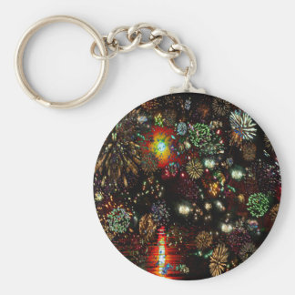 Galaxy of Fireworks Collage 12 13 2010 2859a Keychains