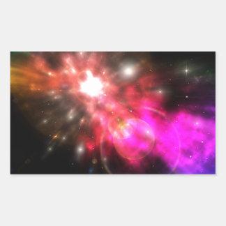 Galaxy of Light Rectangular Sticker