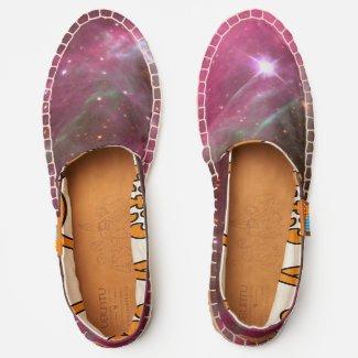 Galaxy of Stars in Tarantula Nebula Pink Hue, ZGOS Espadrilles