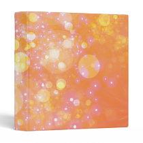 Galaxy Orange Bokeh Binder