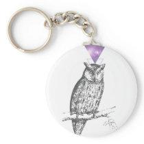 Galaxy owl 1 keychain