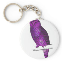 Galaxy owl 3 keychain