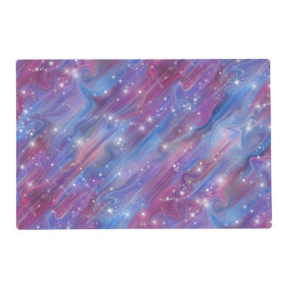Galaxy pink beautiful night starry sky image placemat