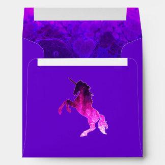 Galaxy pink beautiful unicorn sparkly image envelope