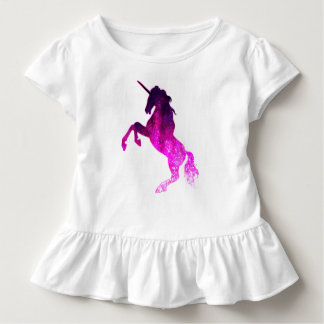 Galaxy pink beautiful unicorn sparkly image toddler t-shirt