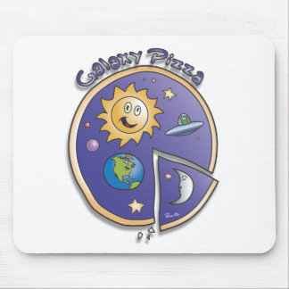 Galaxy Pizza Cartoon by Parente Mouse Pad