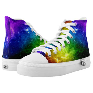Galaxy Pride Rainbow LGBT High-Top Sneakers