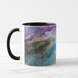 Galaxy Print Outer Space Watercolor Mug