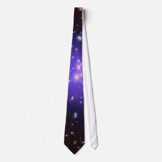 Galaxy Print Stars Ultra Violet Starry Deep Space Tie
