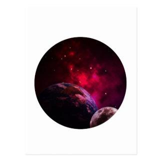 Galaxy Purple 1 - purple Gláxia Postcard