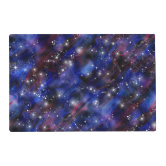 Galaxy purple beautiful night starry sky image placemat