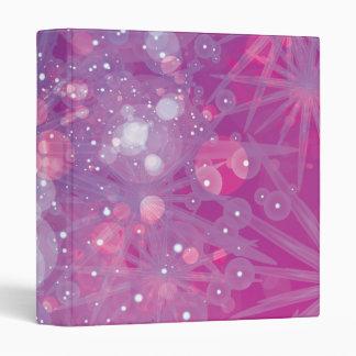 Galaxy Purple Pink Bokeh Binder