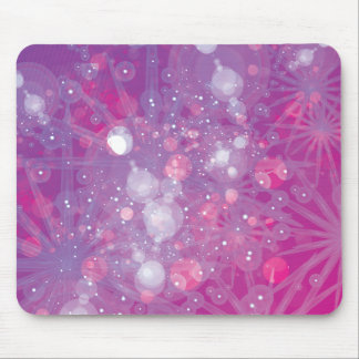 Galaxy Purple Pink Bokeh Mouse Pad