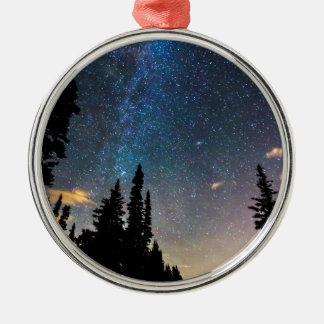 Galaxy Rising Metal Ornament