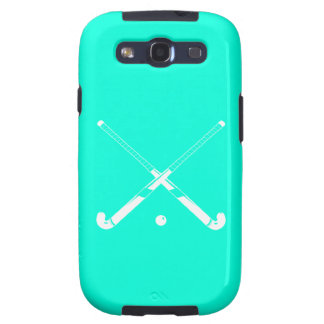 Galaxy S3 Field Hockey Silhouette Turquoise Samsung Galaxy SIII Cover