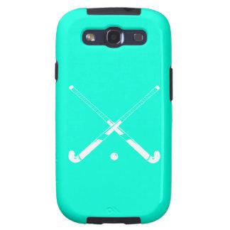Galaxy S3 Field Hockey Silhouette Turquoise Samsung Galaxy S3 Case