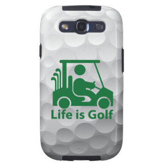 Galaxy S3 Life is Golf Case Green Golfer in Cart Samsung Galaxy S3 Cover