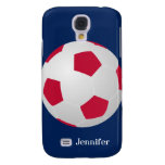 Galaxy S4 Case, Soccer Ball, Red, White, and Blue