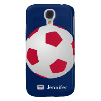 Galaxy S4 Case, Soccer Ball, Red, White, and Blue Samsung S4 Case