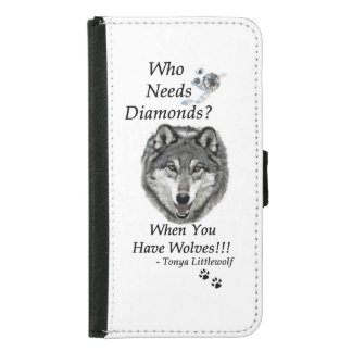 Galaxy S5 Wallet Case - Wolf Mountain Sanctuary