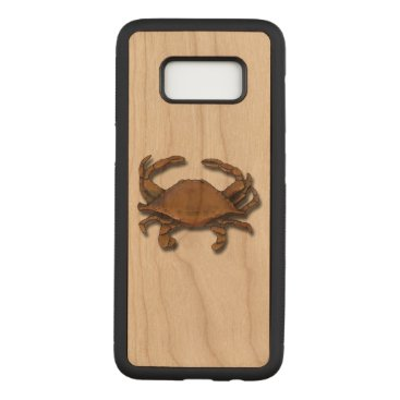 nautical_gifts Galaxy S8 Copper Crab on Cherry Carved Samsung Galaxy S8 Case