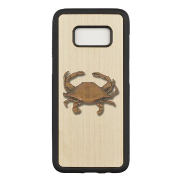 nautical_gifts Galaxy S8 Copper Crab on Maple Carved Samsung Galaxy S8 Case